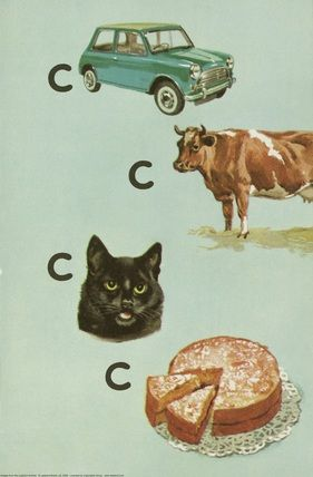 car cow cat cake  peter and jane say the sound