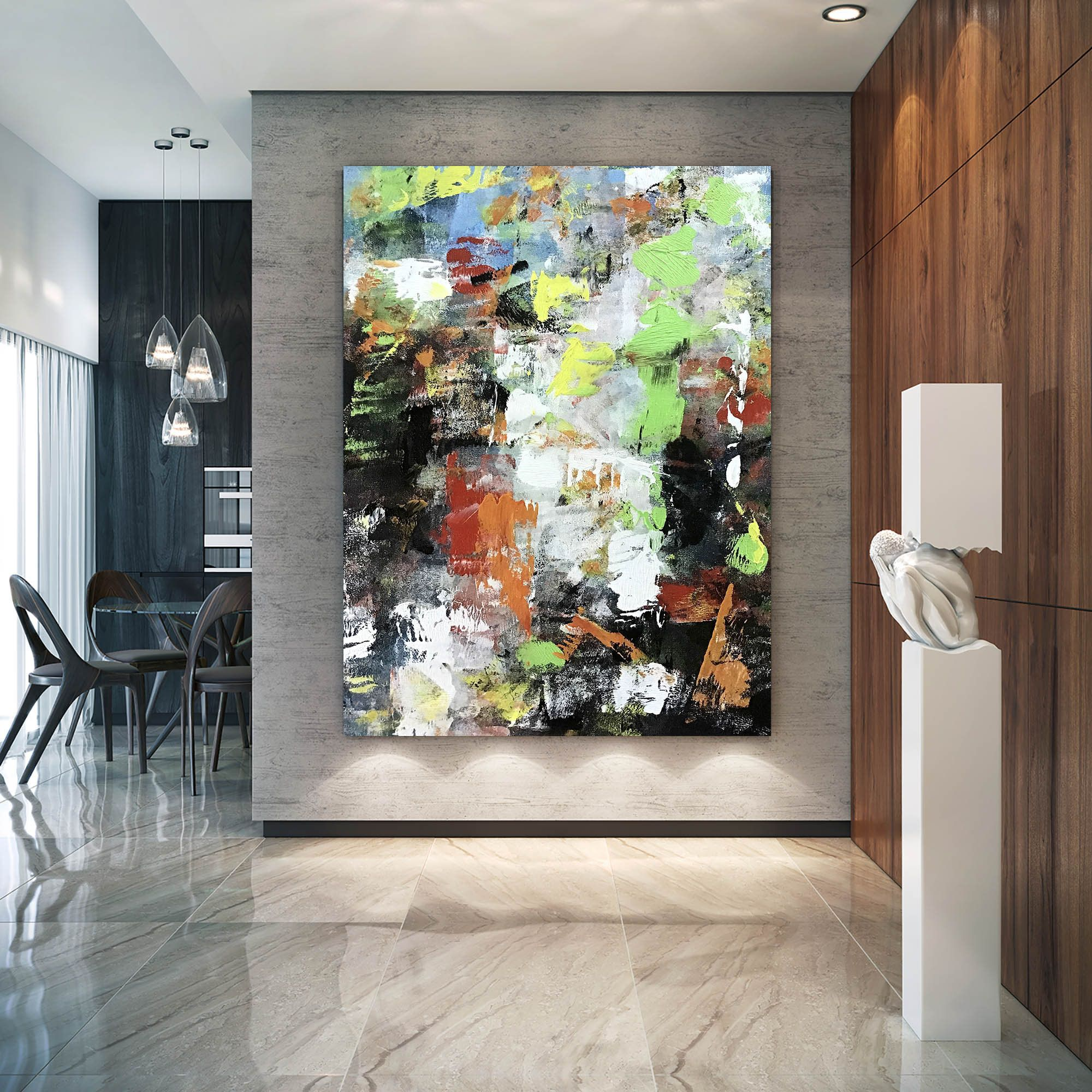 Large Abstract Paintingmodern Abstract Paintingpainting Wall Etsy Textured Wall Art Colorful Wall Art Oversized Wall Art