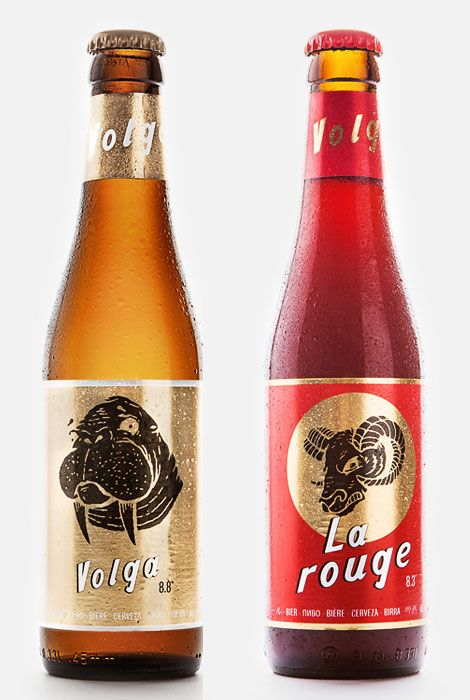 Volga Beer designed by Jon Contino | @Oh Beautiful Beer