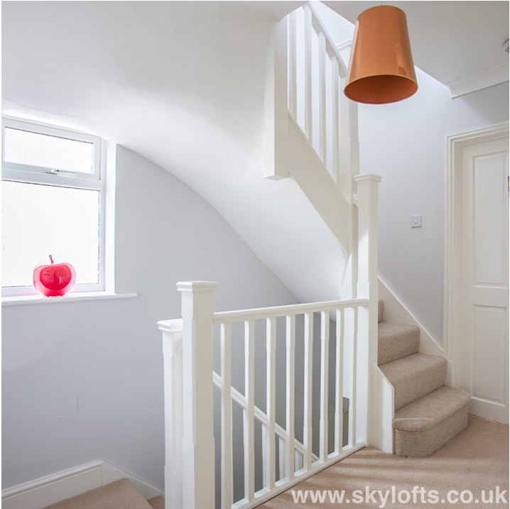 Small Homes That Use Lofts To Gain More Floor Space: Railing New Landing For Loft Conversion Bedroom In West