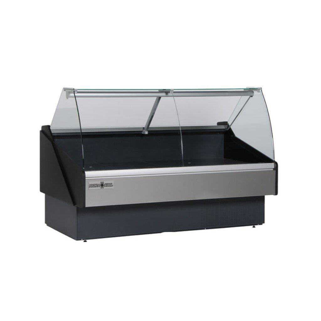 HydraKool Curved Glass Tilt Front Deli Case - 52""