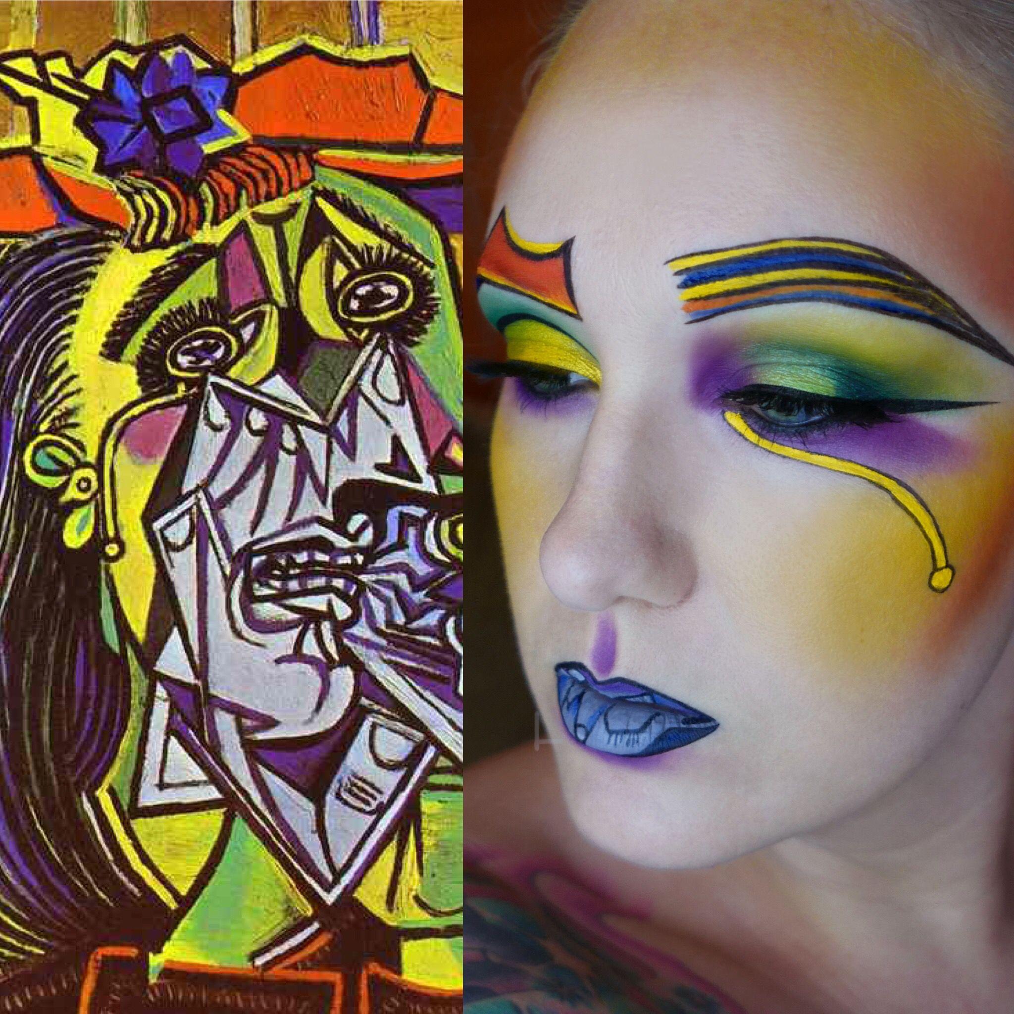 Artist Inspiration Series 3 Picasso The Weeping Woman Makeup Beauty Artistry Makeup Fantasy Makeup Makeup