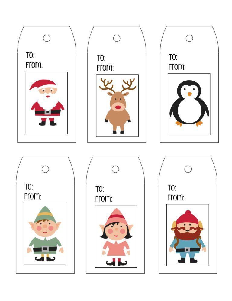 Printable Gift Tag Templates Christmas tags printable