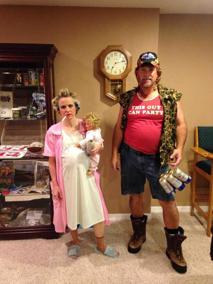 My parents going to a party as trailer trash
