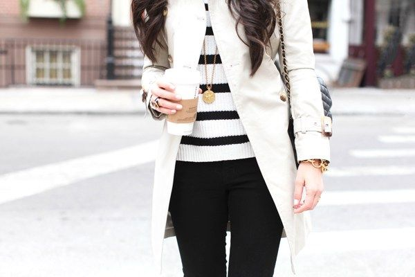 Look blanco y negro para el invierno - Look with white and black for ... ee8607990a13