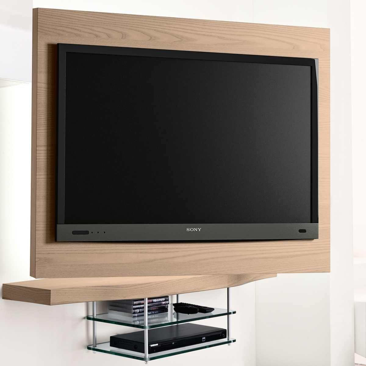 Logic Schwenkbarer Tv Rack Mit Led Hinterleuchtung Diotti Com Tv Halterung Glasboden Led