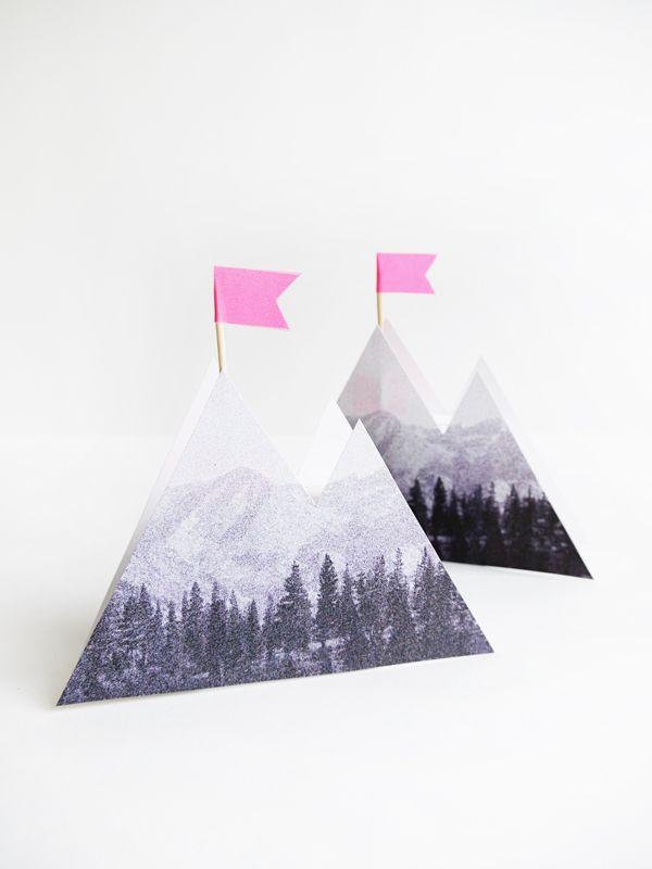Printable Photoreal Mountain Box Diy Printables Diy Paper Crafts