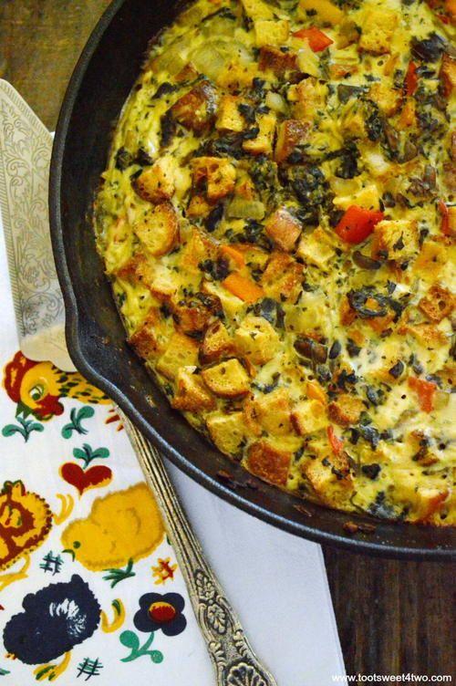 Cheesy Spinach Frittata | AllFreeCasseroleRecipes.com