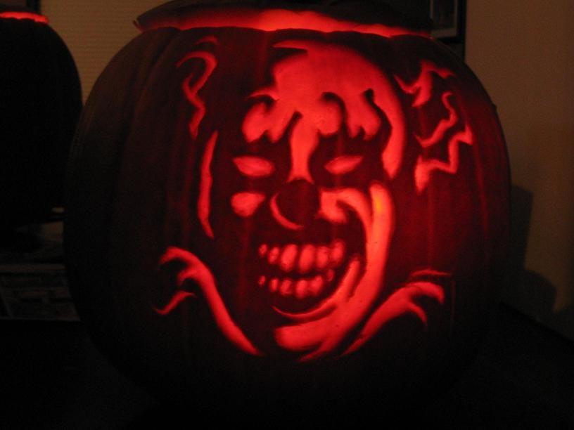 Scary Halloween Pumpkin Carvings Scary Halloween Pumpkin Clown