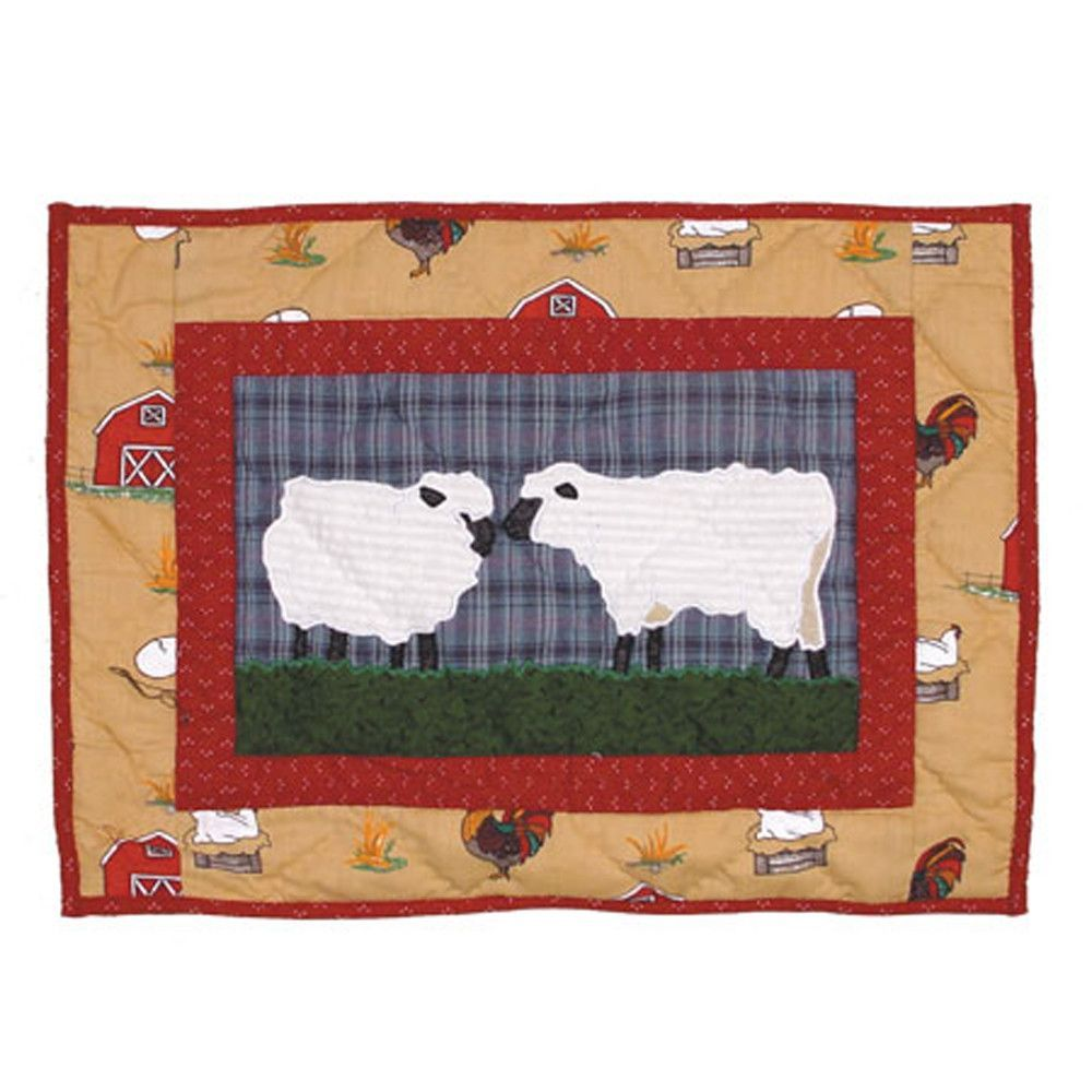 Barnyard Crib Cotton Boudoir/Breakfast Pillow