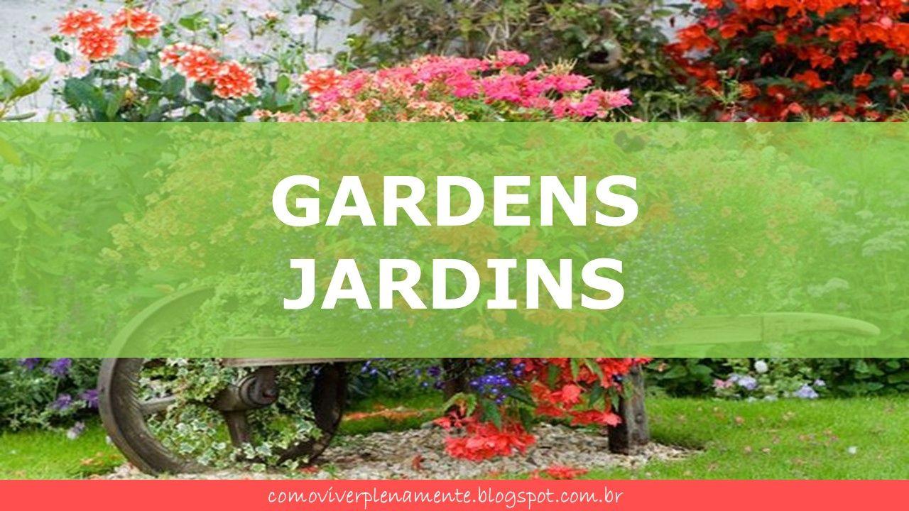 Capa para a pasta Jardins do Pinterest e blog Como viver plenamente. http://comoviverplenamente.blogspot.com.br/