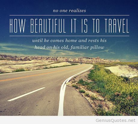 How beautiful is to travel