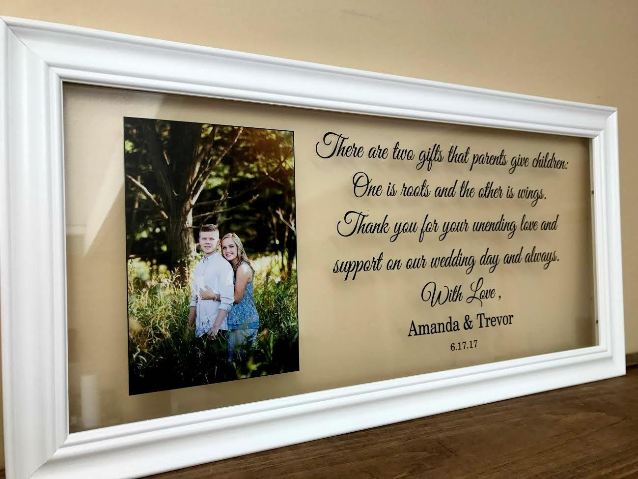 Mother of the Bride picture frame wedding gift Father of the Bride Christmas