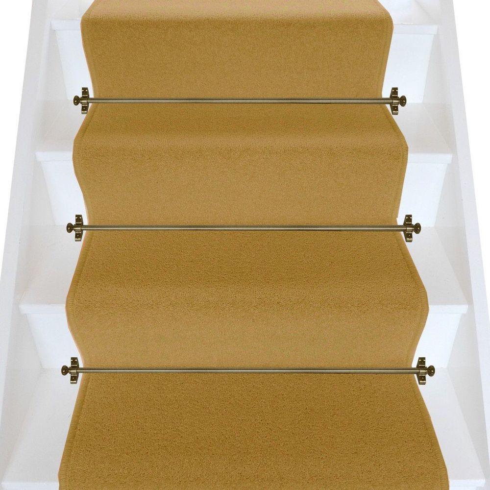 Best Brintons Carpets Bell Twist Luxor Gold Plain Stair Runner 640 x 480