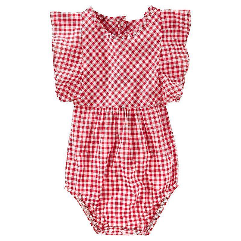 Baby Girl OshKosh B'gosh® Gingham Bodysuit Cute outfits