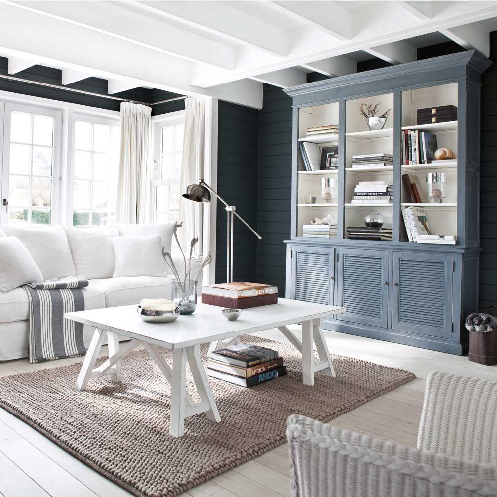 Une d co de style bord de mer dans le salon salon maison - Deco salon chambre ...