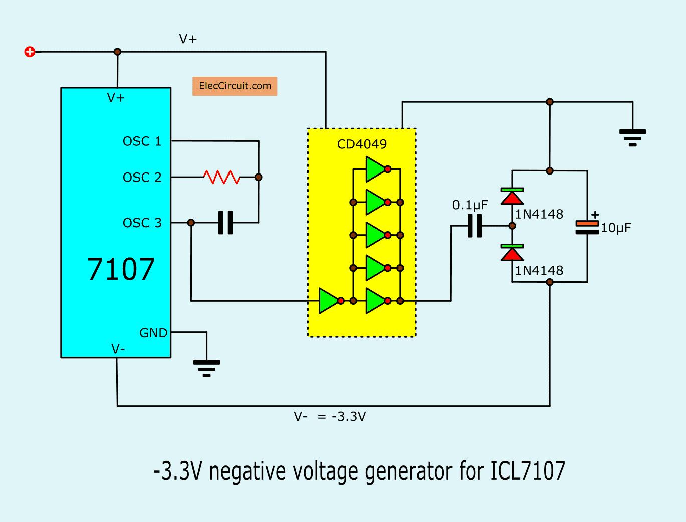 Digital Voltmeter Circuit Diagram Using Icl7107 7106 With Pcb Circuit Diagram Circuit Digital Circuit