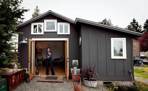 creative use of garage space 32K renovation secret hideout or