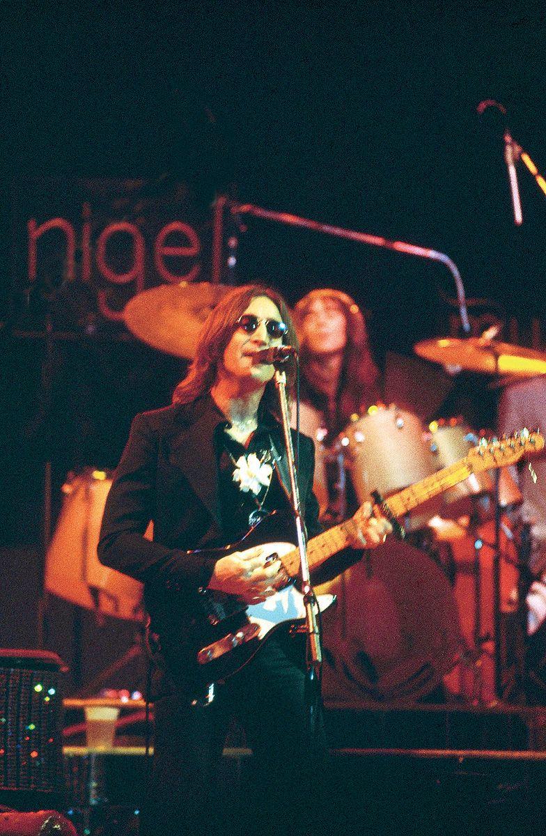 John Lennon During A Concert Performance By Elton John At Madison Square  Garden In New York City, New York, Usa, 28 November 1974 Lennon's Appeara…