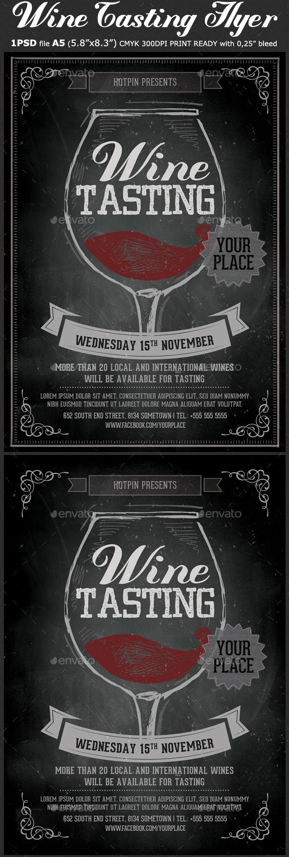 Wine Tasting Flyer Template  Flyer Template Psd Templates And