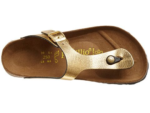 db0db460b97d14 Birkenstock Gizeh by Papillio Metallic Gold Leather -