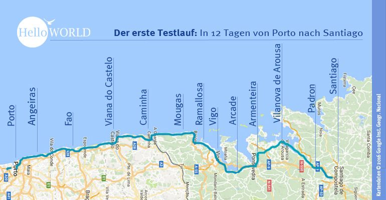 Camino Portugues Etappen Jakobsweg Jakobsweg Spanien Und Camino