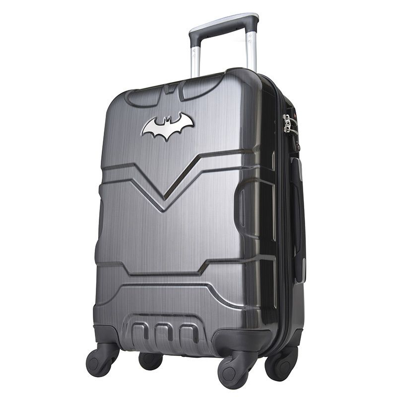 Batman - Medium 4 Wheel Hardside Suitcase | Batman suitcase ...