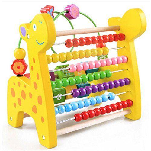 Colorful Wooden Mini Around Beads Developmental Game Kids Baby Toys