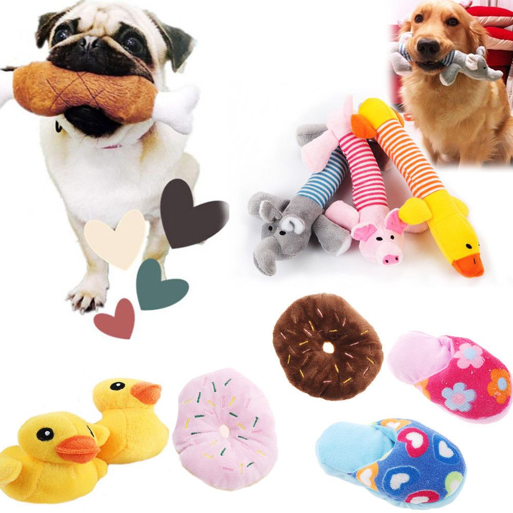 1 39 Aud Pet Puppy Chew Squeaker Squeaky Plush Sound Pig