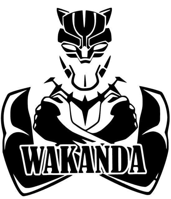 Wakanda Black Panther Marvel Avengers Infinity Car Truck Decal Sticker 12 Colors Desenho Da Pantera Pantera Negra Pantera Negra Marvel