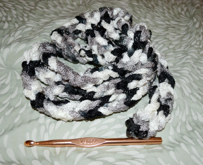 Crochet Scarf Pattern With Sashay Yarn : Make a 20-Minute Rope Scarf with Sashay Yarn; I have made ...