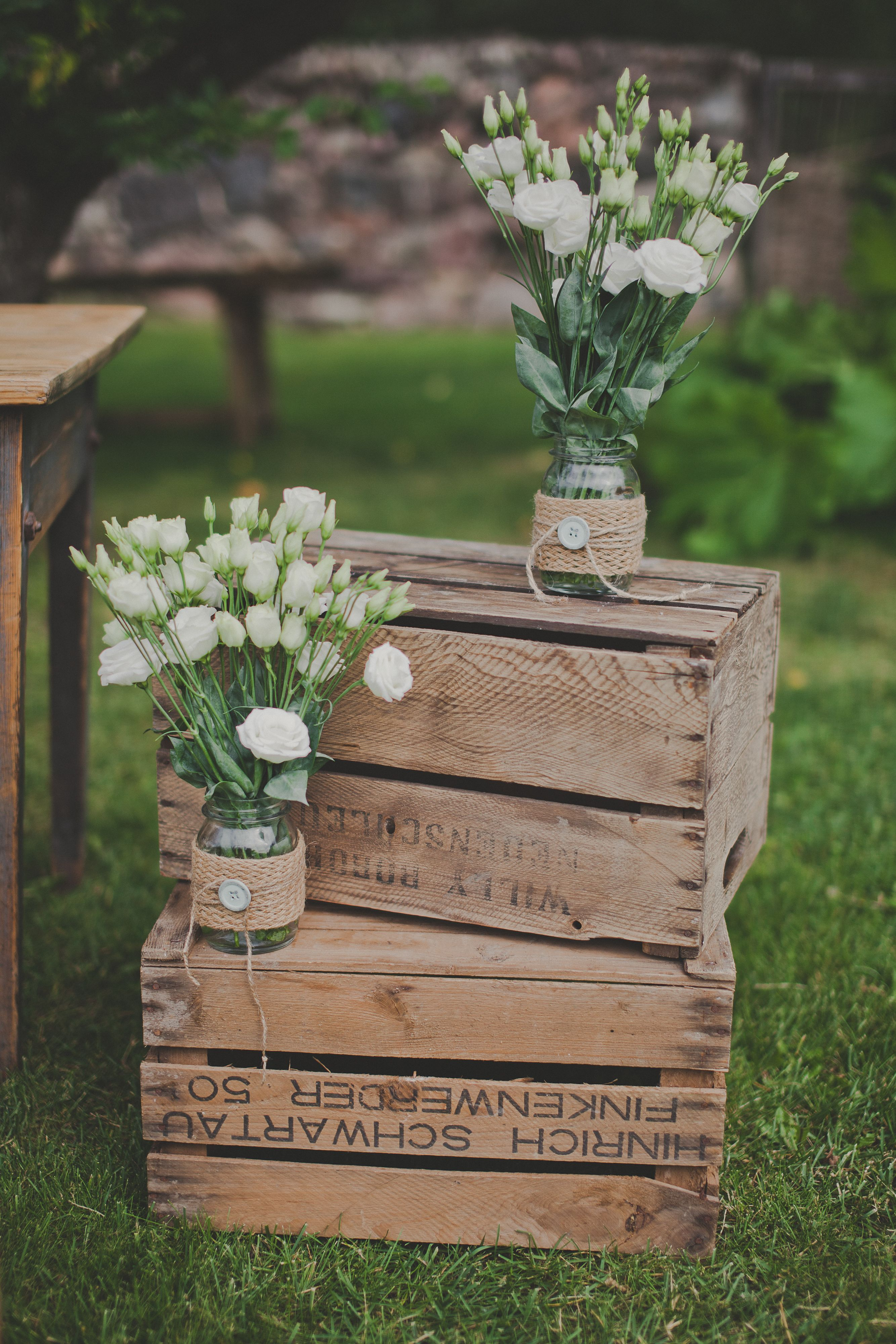 Old wooden boxes style week decorations pinterest for Wooden wine box garden