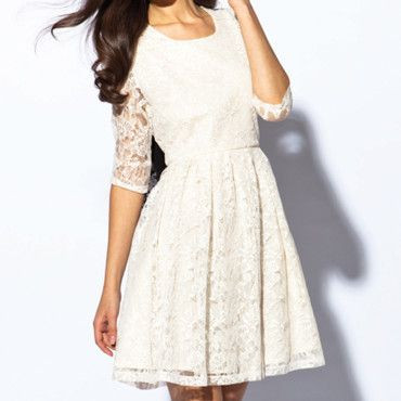 Kookai robe blanche dentelle