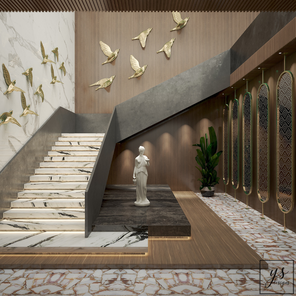 Staircase Of A Hotel Lobby on Behance   Home stairs design ...