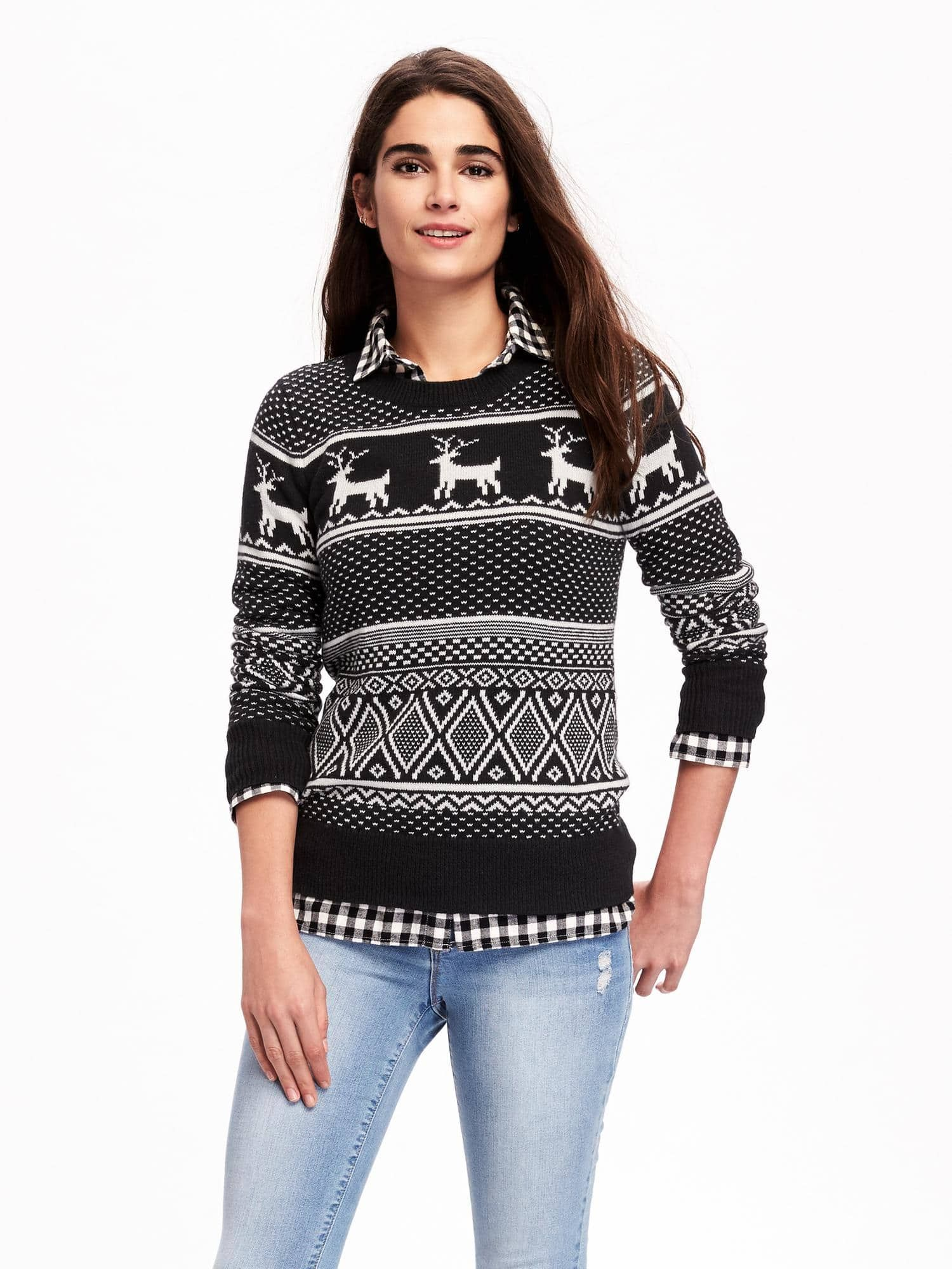 Reindeer-Graphic Sweater for Women | Old Navy | Clothes | Pinterest ...