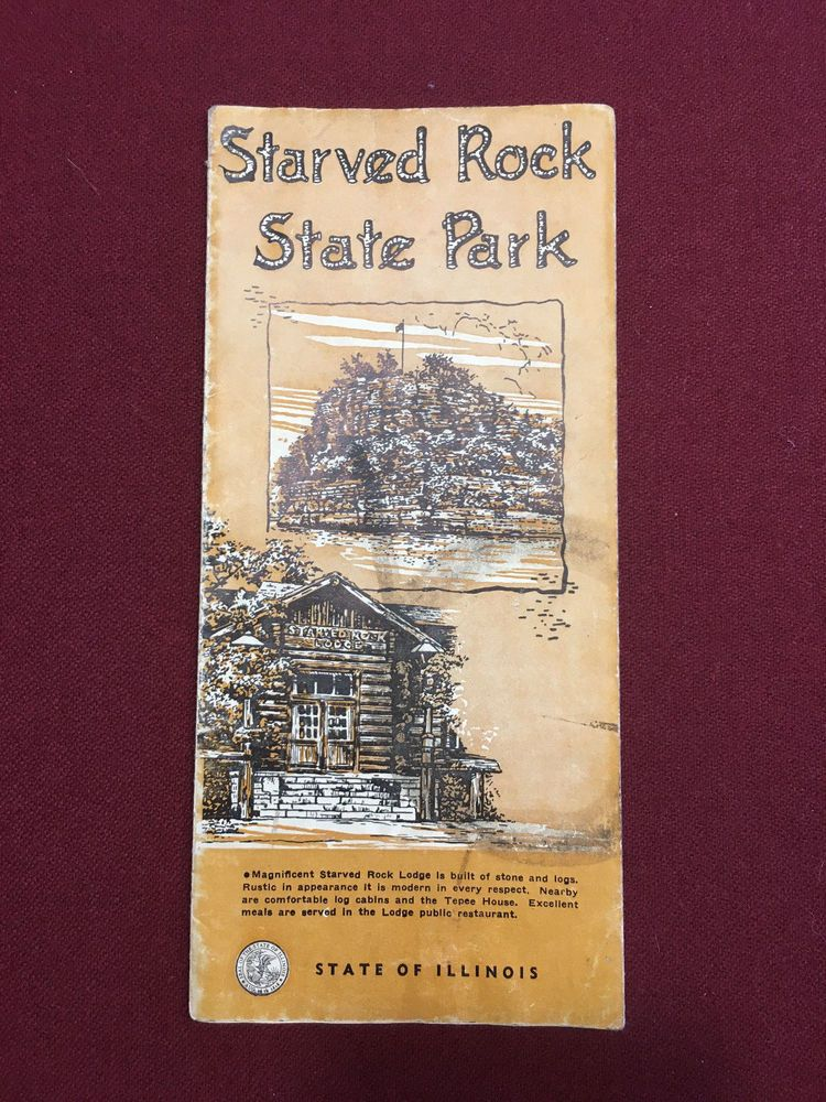 RARE! VINTAGE 1940 STARVED ROCK STATE PARK ILLINOIS TRAIL ...