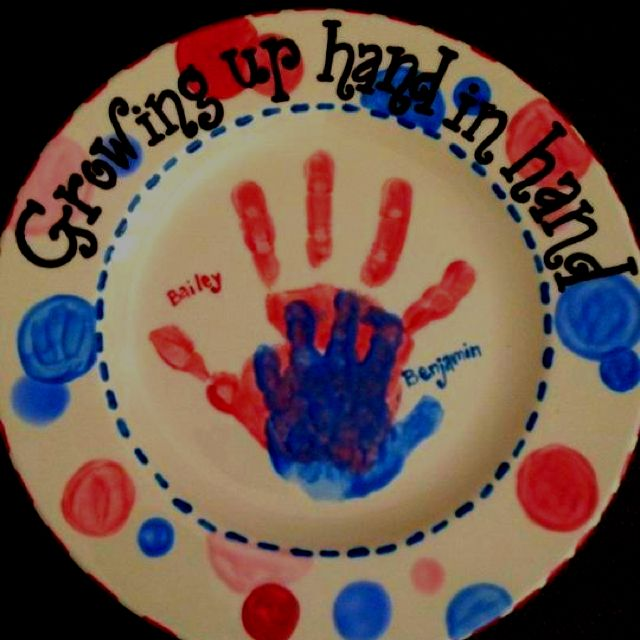 Dual glazed handprints of my children on a ceramic plate.  sc 1 st  Pinterest & Dual glazed handprints of my children on a ceramic plate. | Hand ...