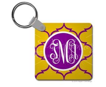 Purple/Yellow Moroccan Keychainn