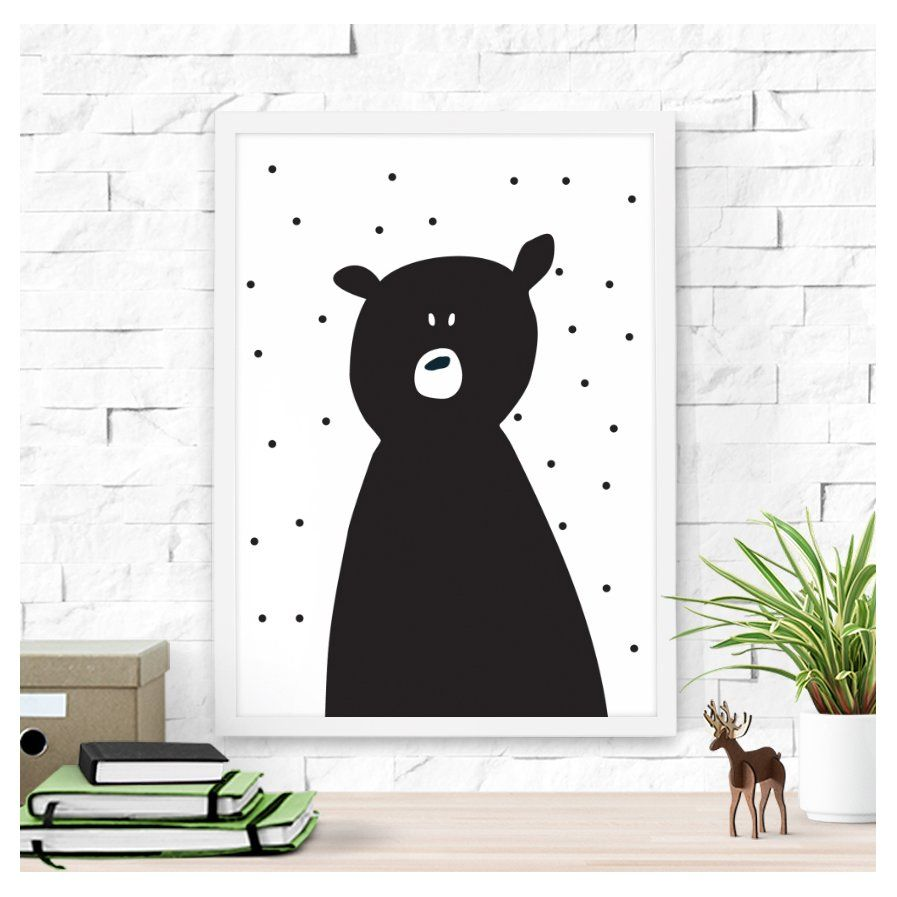 Cute polar bear paper print child minding pinterest kid wall