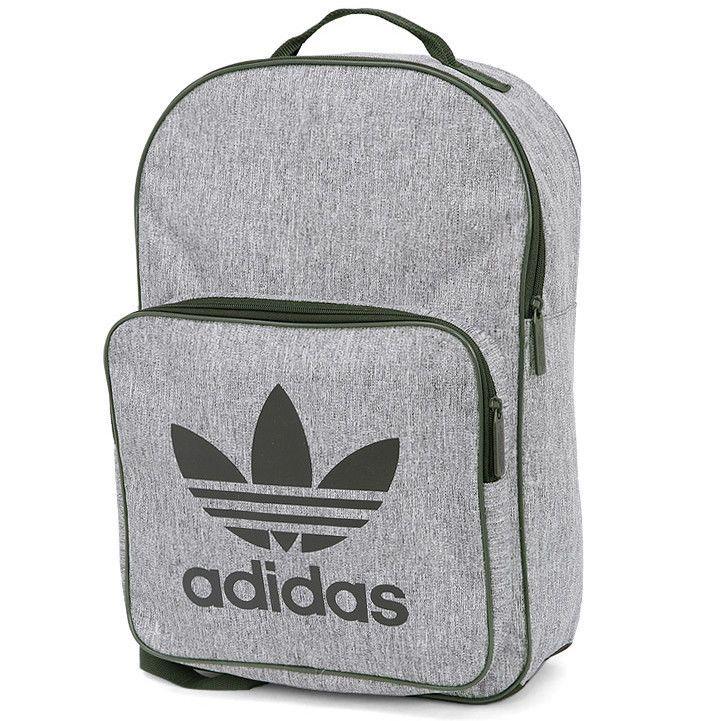 adidas Classic Casual Backpack Gray Khaki School University Bag Rucksack  CD6058  adidas  Backpacks 9f928f721aa25