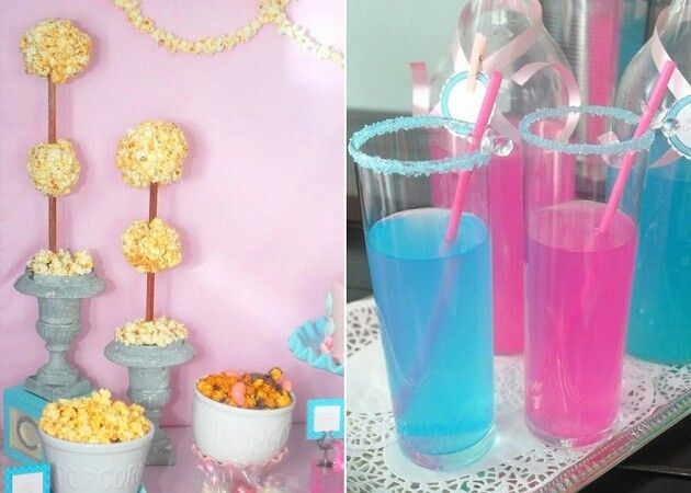 Baby Shower Themed Drinks ~ Drinks and popcorn baby shower theme holidays and events