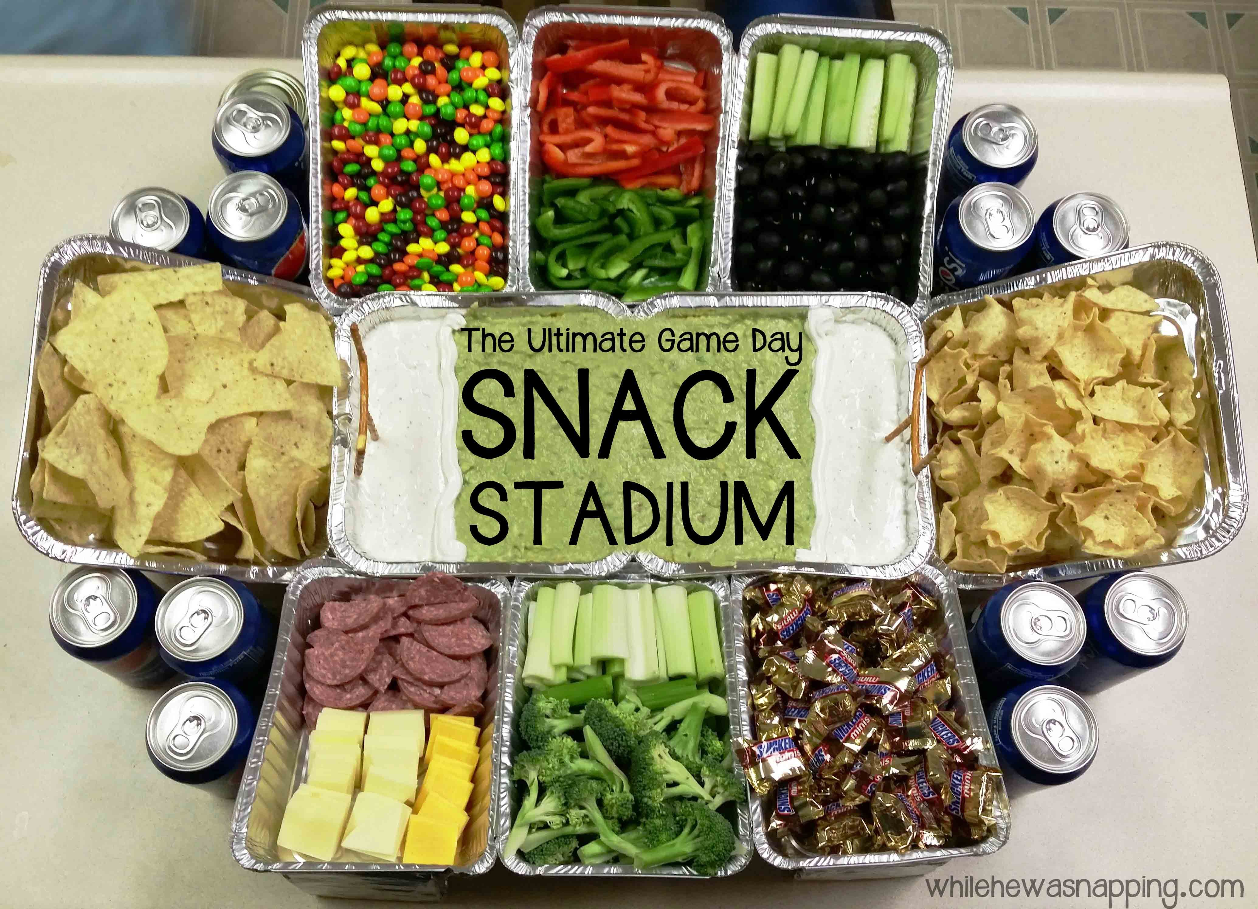 Snack Stadium Football Party Foods Superbowl Party Food