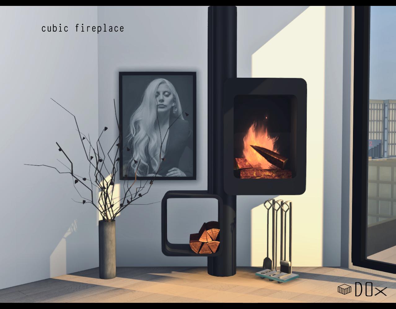 Luxury Fireplace Trio DOX Sims, Sims 4, Sims 4 mods