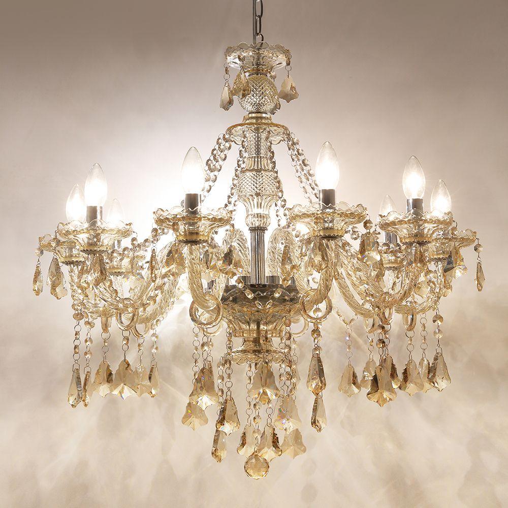 Faszinierend Kronleuchter Kristall Modern Galerie Von Versandkostenfrei Stilvoll 10 Flammig Im Esszimmer Zu