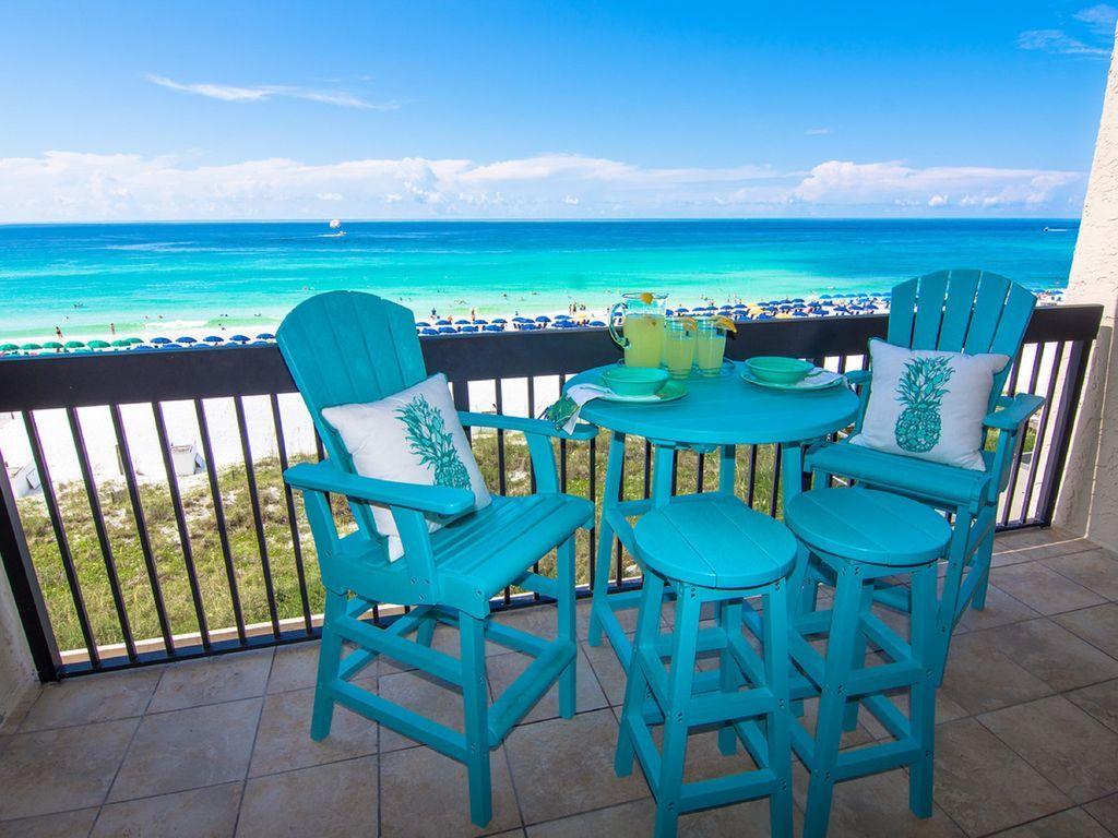 Destin florida family friendly paradise gulf front pool