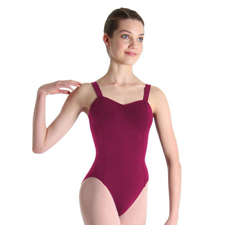 17dbf73d770 Classical strap leotard with French princess seams