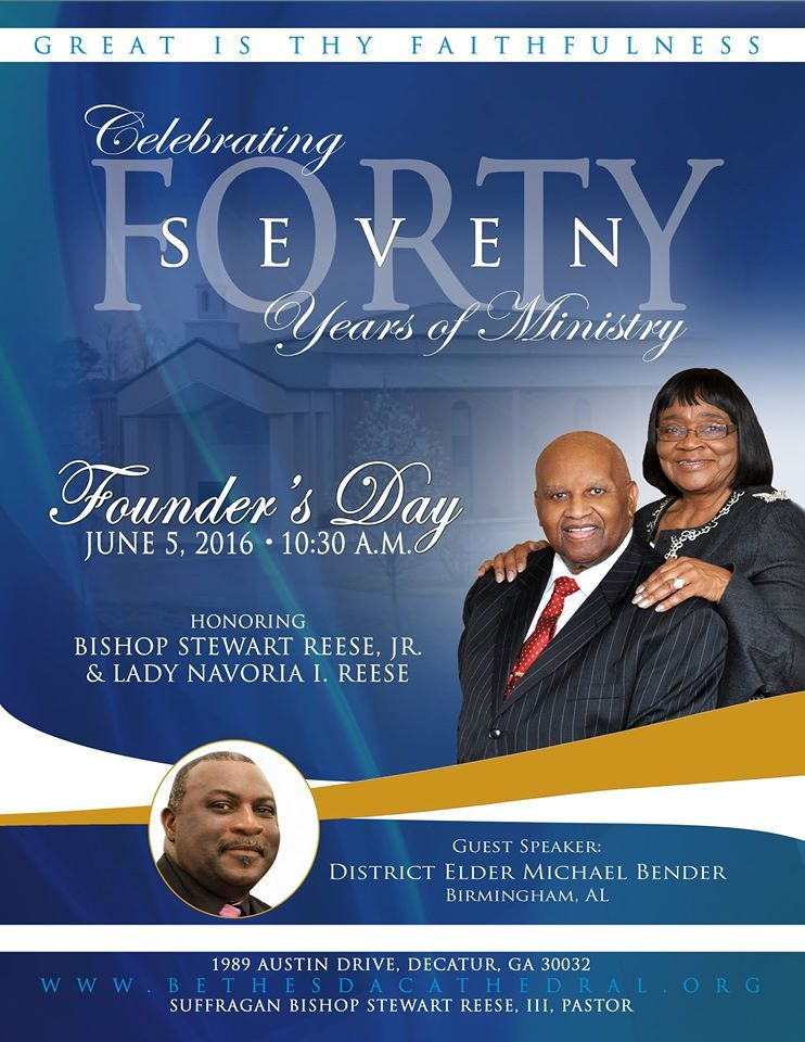 Bethesda Cathedral Invite You to Founder's Day on June 5 ...
