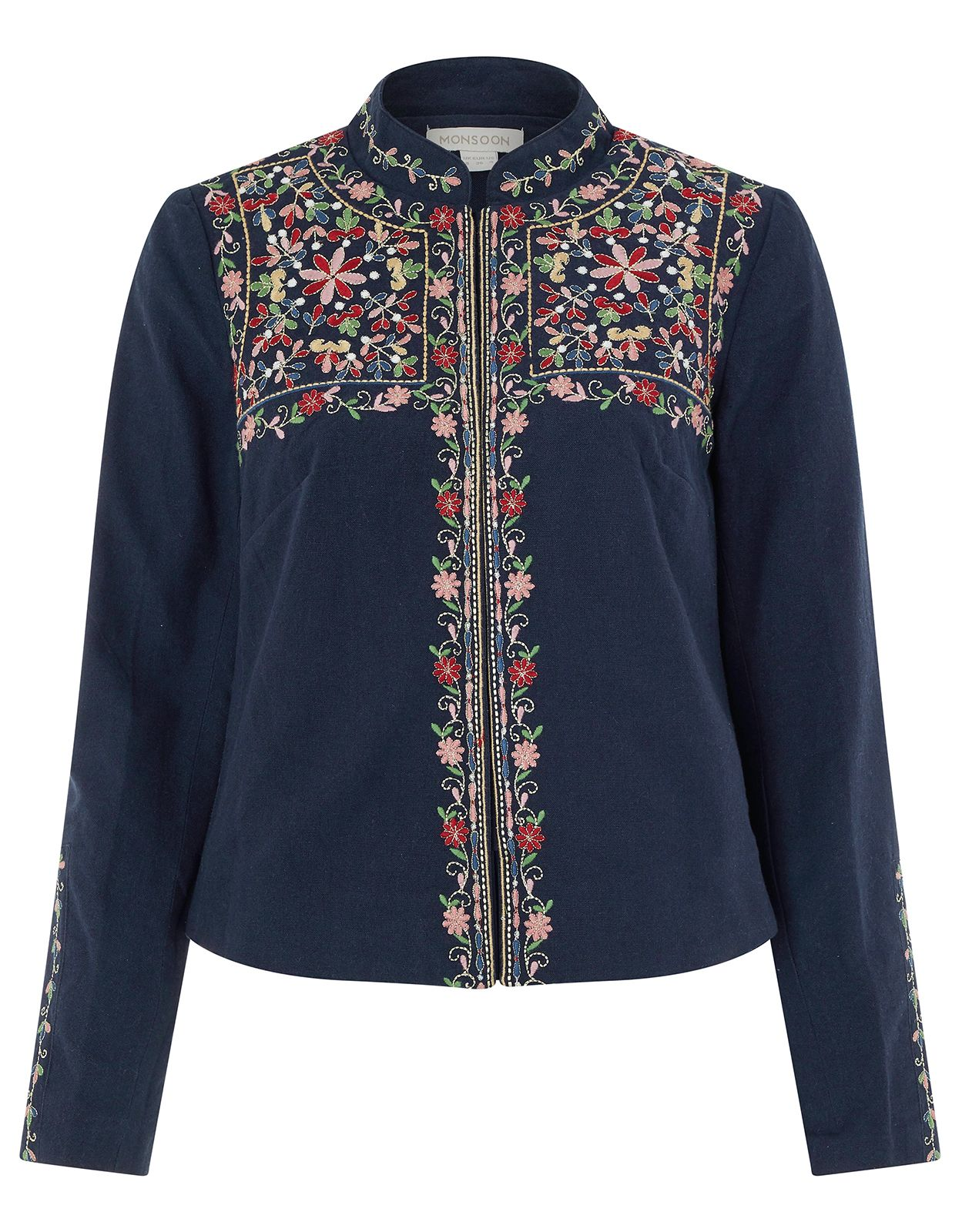 200d78736613 Monsoon | Elisha Embroidered Jacket | Navy | 8 | 4428806108 ...
