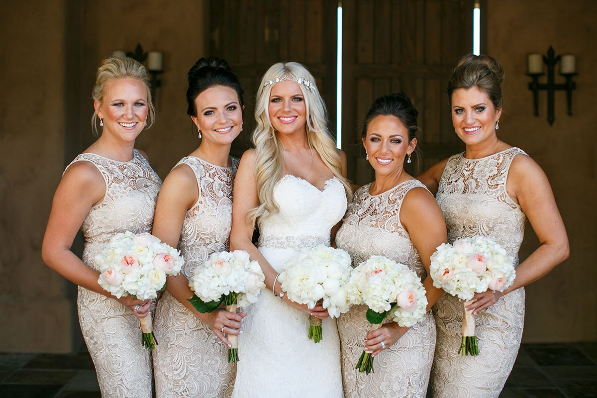 Glamourous weddings by ashley fain weddings and events dc ranch champagne bridesmaids dresses from nordstrom country club at dc ranch in scottsdale arizona wedding photo by jennifer bowen photography ombrellifo Gallery