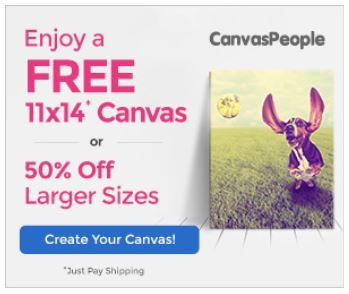 Canvas People Get A Free 11x14 Canvas Or 50 Off Larger Sizes